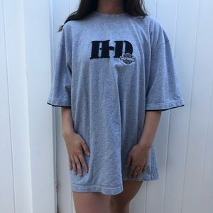 Harley Davidson Abbreviated Oversized Graphic Tee